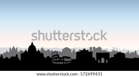 rome city skyline italian