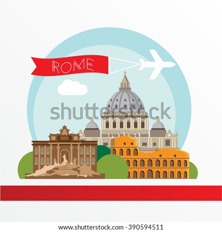 rome detailed silhouette....