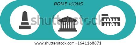 rome icon set 3 filled rome