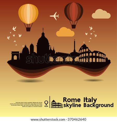 rome  italy  skyline background