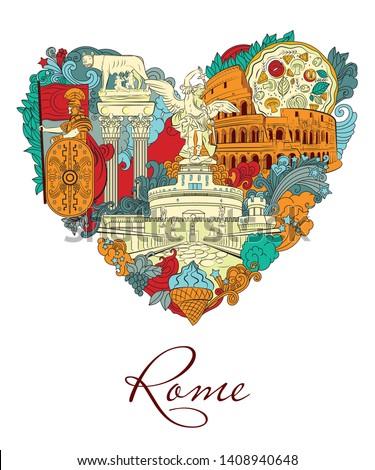 rome  italy  vector