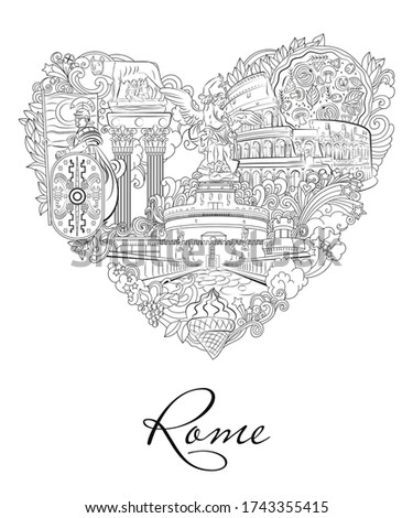 rome  italy  vector relaxation