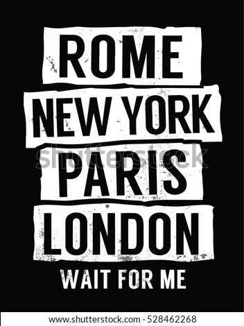 rome  new york  paris  london