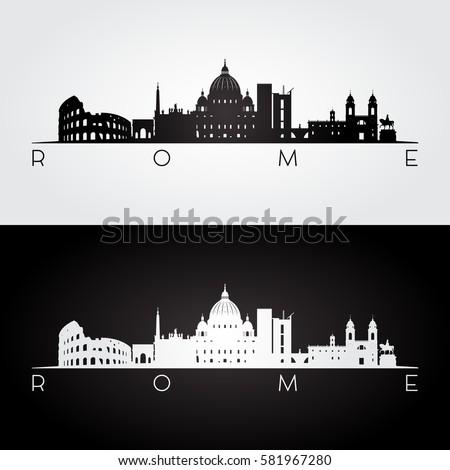 rome skyline and landmarks