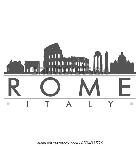 rome skyline silhouette design