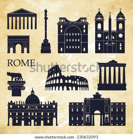 rome vector illustration