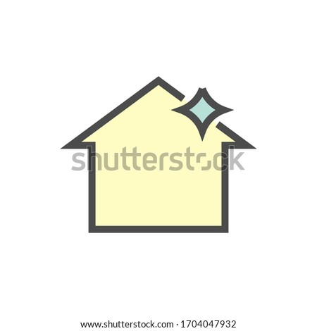 roof cleaning vector icon
