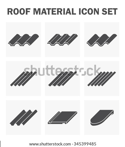 roof material icon set