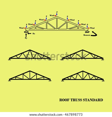 Roof Truss Illustration 467898773 Shutterstock