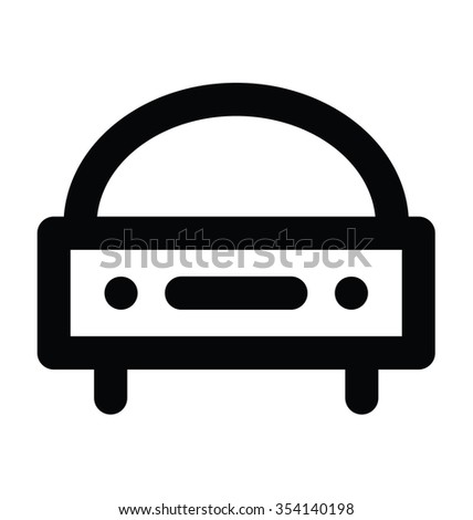 roofless car bold line vector