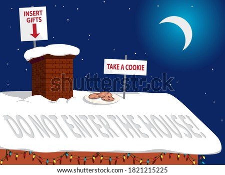 rooftop of a house in christmas