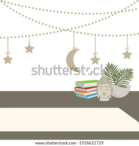 room decor with moon and stars
