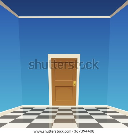 room door   blue