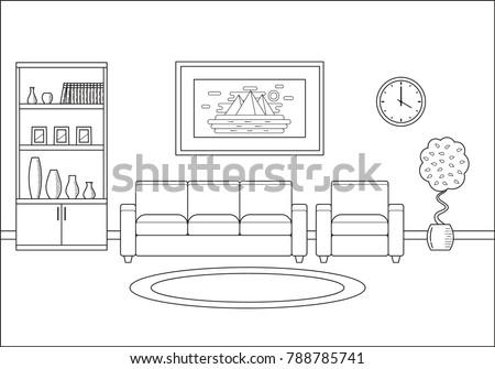 room interior living room in