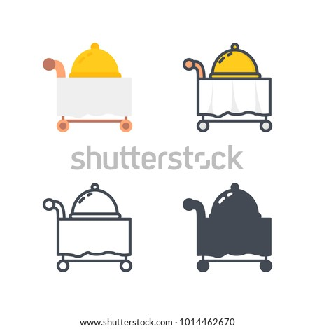 Room service dinner service icon