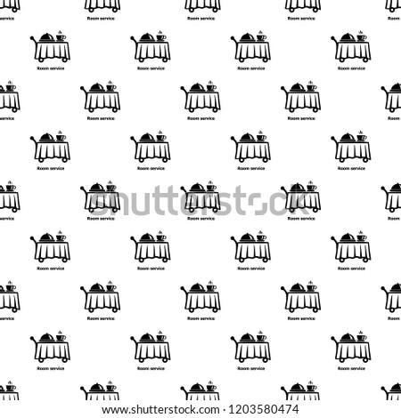 room service pattern vector