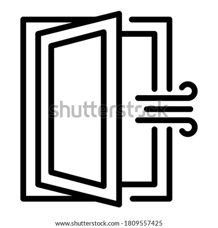 Room ventilation icon. Outline room ventilation vector icon for web design isolated on white background Stockfoto ©