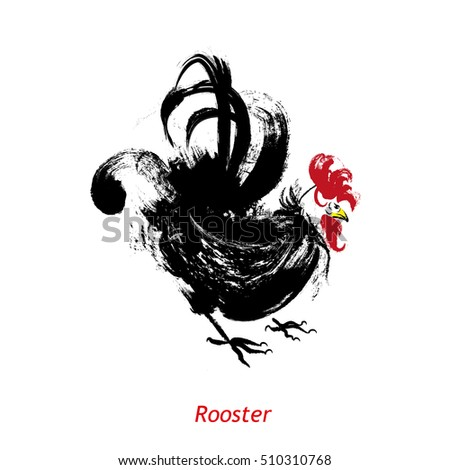 rooster  bird concept