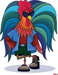 Rooster chicken hen vector clipart