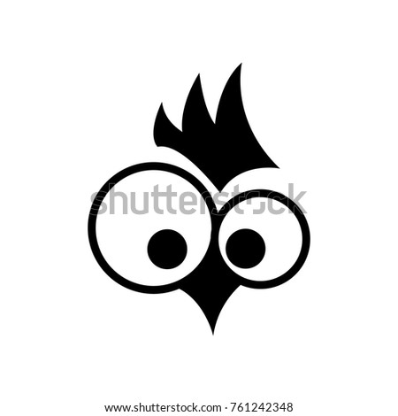Rooster. Cock. Abstract rooster logo, cock icon. Symbol. .Monochrome vector illustration design element