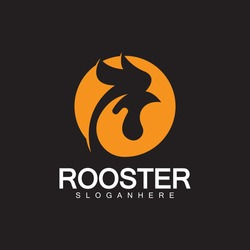 Rooster head logo vector icon symbol illustration design.Rooster  chicken  cock. Abstract vector illustration