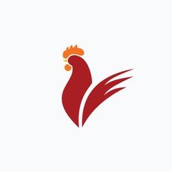 Rooster Logo Vector Template Design