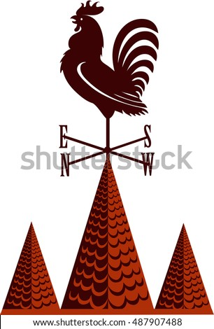 rooster weather vane on a