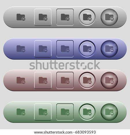 Root directory icons on rounded horizontal menu bars in different colors and button styles #683093593