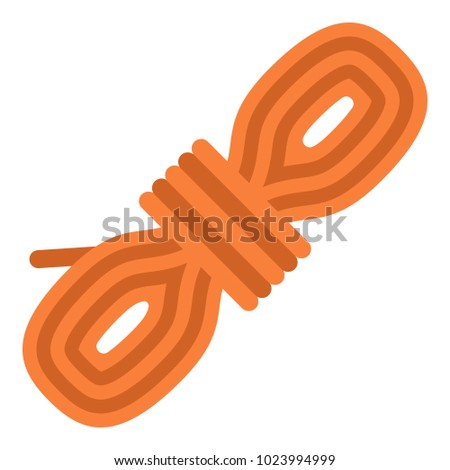 Rope coil icon, flat style