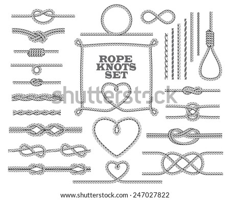 rope knots collection. seamless ...