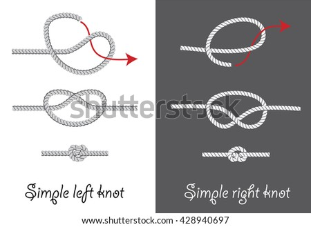 How to tie vector instructios download free vector art stock how to tie simple knots instruction vector illustration ccuart Images