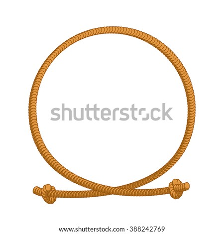 rope loop frame cord circle