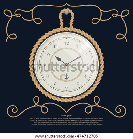 rope set  the clock  vector