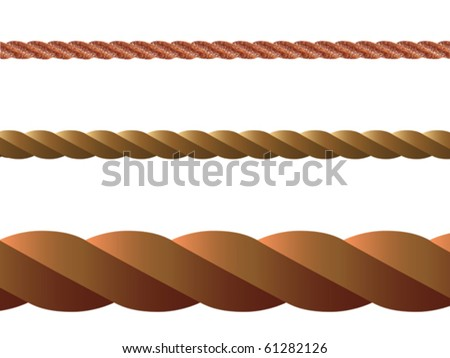 rope vector against white background, abstract art illustration