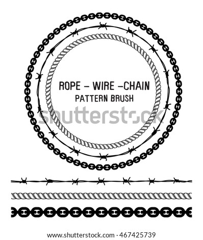 Rope, wire and chain pattern brush