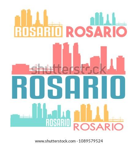 rosario argentina flat icon