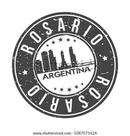 rosario argentina round stamp
