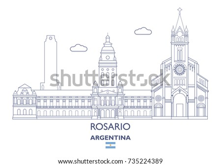 rosario linear city skyline