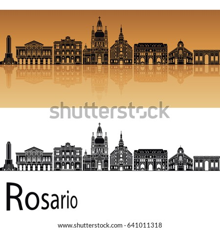 rosario skyline in orange
