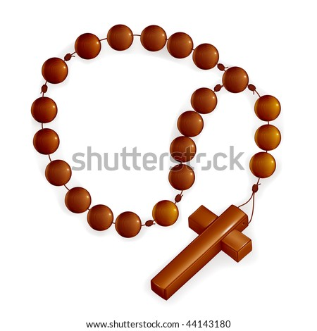 Rosary and Cross, mesh