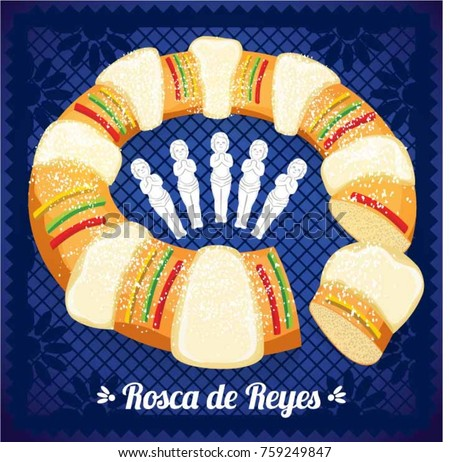 rosca de reyes  three kings