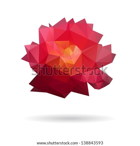 Rose abstract isolated on a white backgrounds