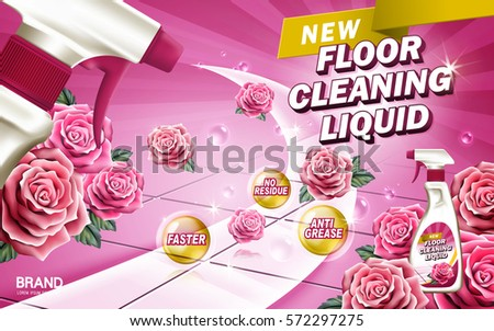 rose aroma floor cleaning