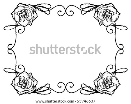 stock vector Rose border