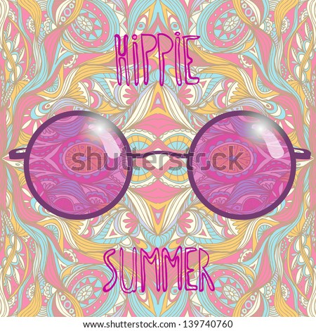 rose colored spectacles hippie