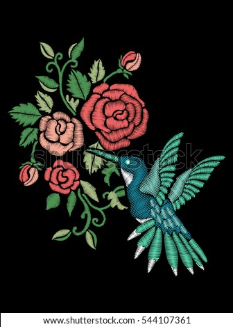 rose embroidery design and