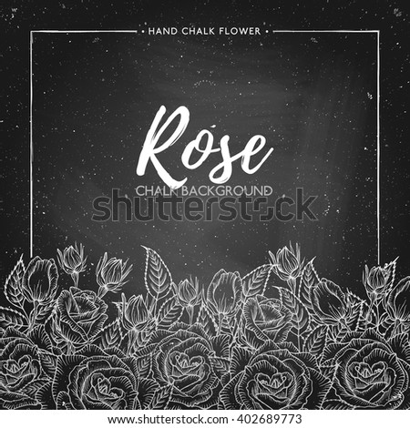 rose floral background on
