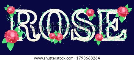 rose flower text effect, perfect for your desain