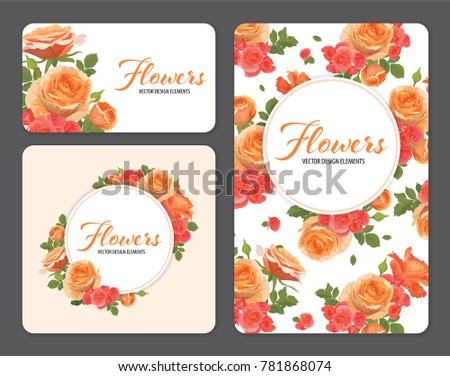 rose flowers in orange color