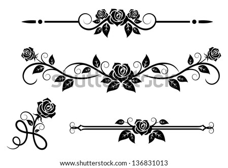 rose flowers with vintage